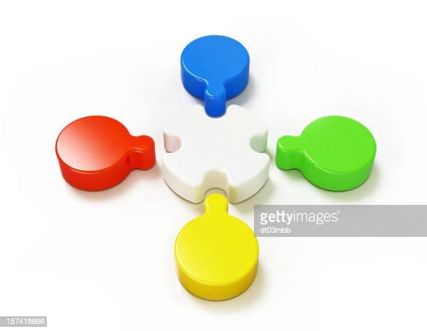 Teamwork concept - coloured