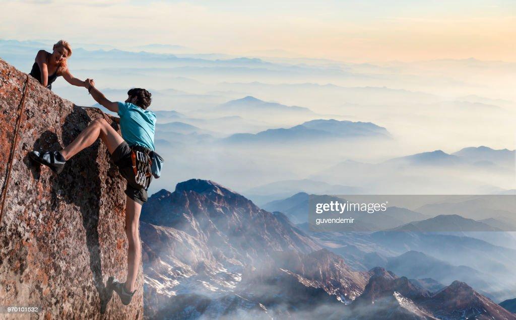 Inspirational Motivational Poster Rock Climbing