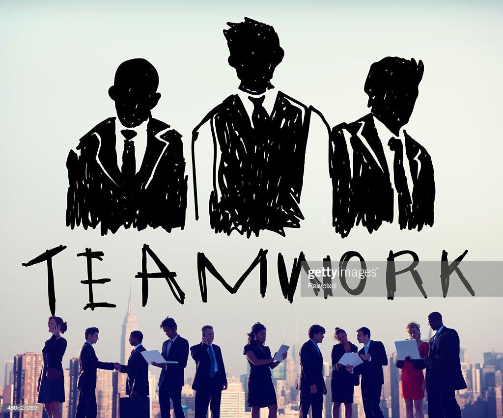 Teamwork Group Collaboration Organization Concept : Bildbanksbilder