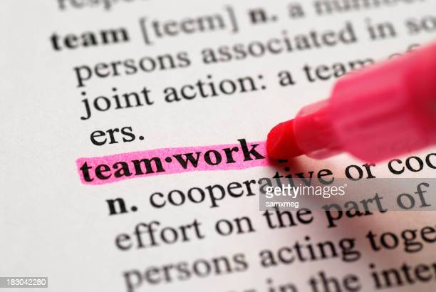 Teamwork Highlighted in Dictionary