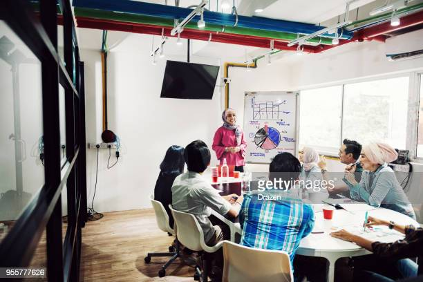 Teamwork in new start up office