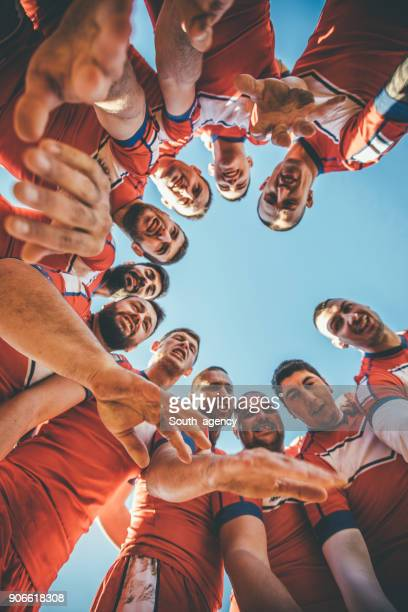 teamwork is the key - rugby team stock pictures, royalty-free photos & images