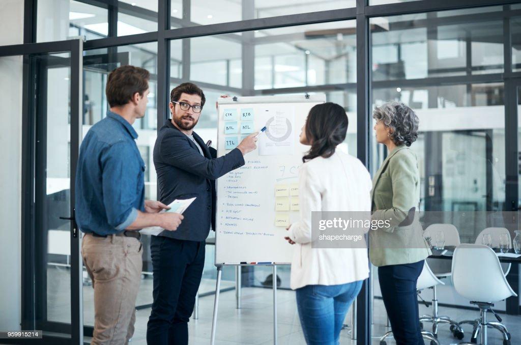 Teamarbeit macht ein Treffen arbeiten : Stock-Foto