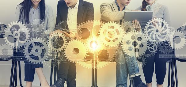 Teamwork of business concept. 957630020
