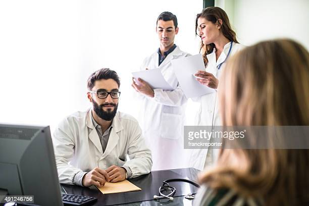 teamwork of doctors in the office for a meeting - audition stock pictures, royalty-free photos & images