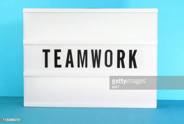 teamwork - lightbox stock pictures, royalty-free photos & images