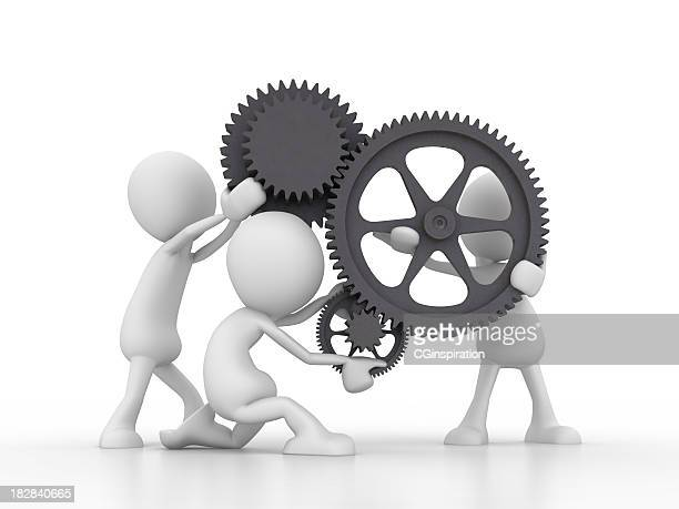 Teamwork  with gears