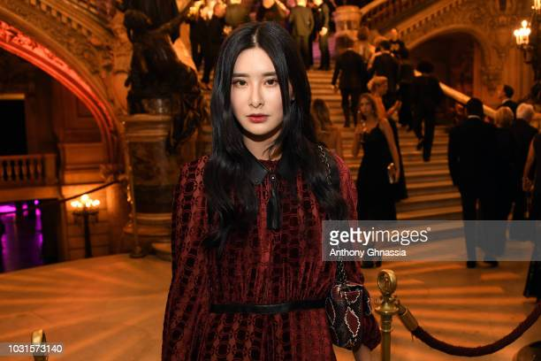 Teaoh Huwei attends Longchamp 70th Anniversary Celebration at Opera Garnier on September 11 2018 in Paris France