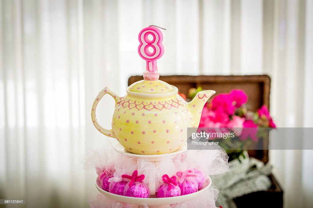 Outstanding Teapot Birthday Cake High Res Stock Photo Getty Images Personalised Birthday Cards Cominlily Jamesorg