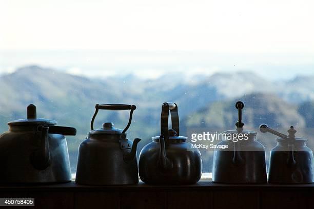 Teapot window silhouettes
