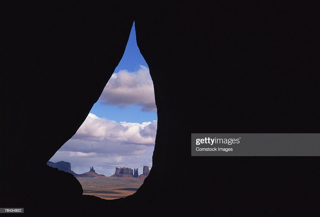 Teardrop Arch in Monument Valley , Utah : Stockfoto
