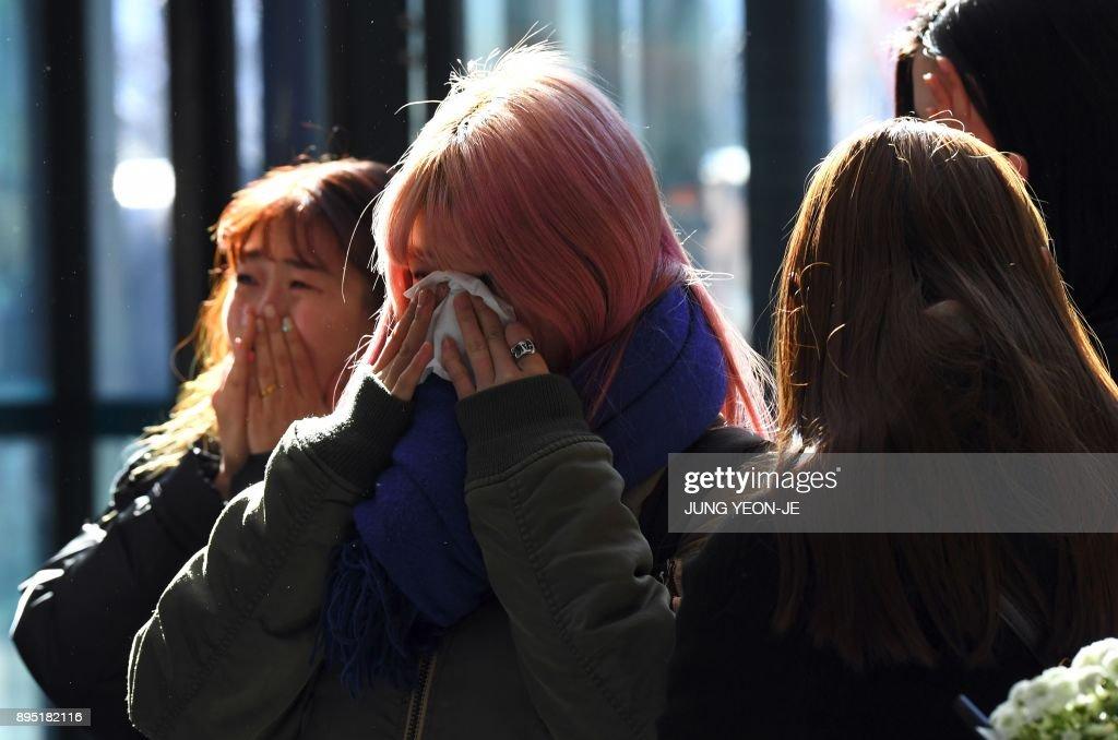 SKOREA-MUSIC-ENTERTAINMENT-SUICIDE : News Photo