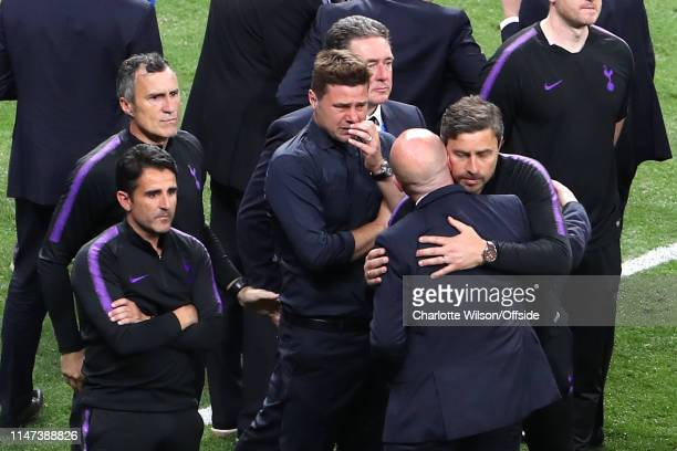 A tearful Tottenham manager Mauricio Pochettino after the UEFA Champions League Final between Tottenham Hotspur and Liverpool at Estadio Wanda...
