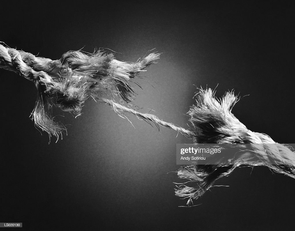 Tearing Rope : Stock Photo