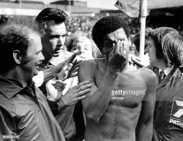 Tears of despair from Birmingham City winger Howard Gayle as he leaves the pitch at St Andrew's A draw against Southampton was not enough to maintain...