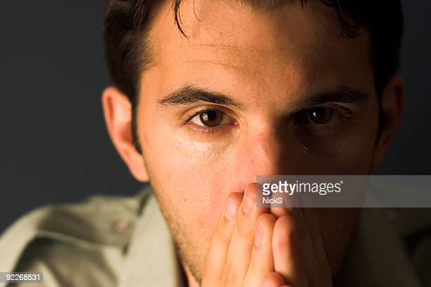 tears - soldier praying stock photos and pictures