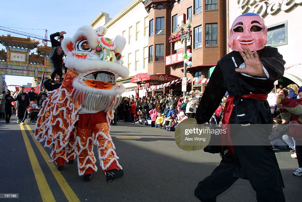a teaser leds a lion dance during the annual chinese new year parade january 28 - Chinese New Year Dc