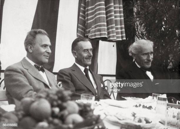 Teatime at Bruno Walter's Bruno Walter Thomas Mann and Arturo Toscanini during the Salzburg Festival Photography by Atelier Ellinger Around 1935 [Tee...