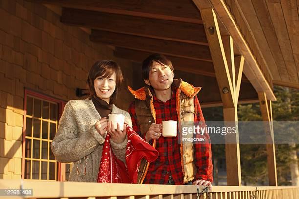 Teatime of couple