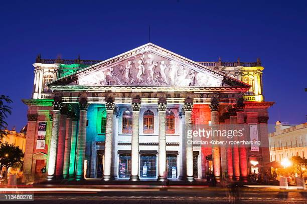 teatro degollado, guadalajara, mexico, north america - guadalajara mexico stock pictures, royalty-free photos & images