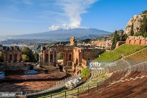 Teatro Greco and Mount Etna in the background