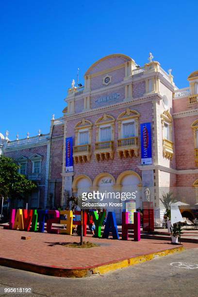 Teatro Heredia during the Hay Festival, Cartagena, Colombia