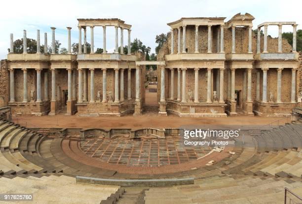 Teatro Romano Roman Amphitheatre Merida Extremadura Spain