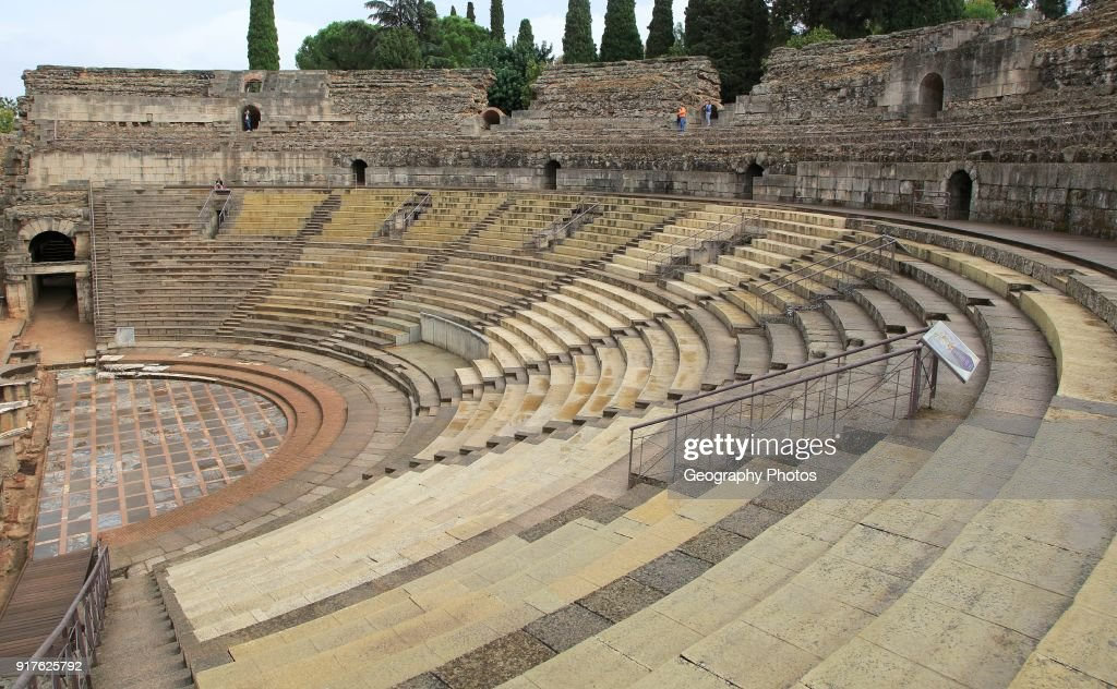 Teatro Romano, Roman Amphitheatre, Merida, Extremadura, Spain : News Photo