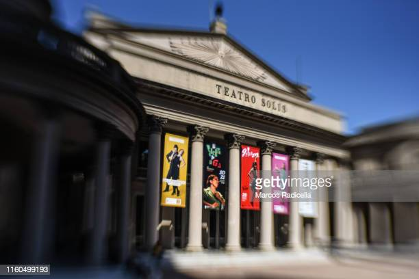 teatro solis, montevideo, uruguay - radicella stock photos and pictures