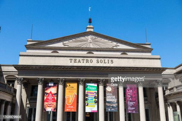 teatro solis opera house theatre montevideo - classical theater stock pictures, royalty-free photos & images