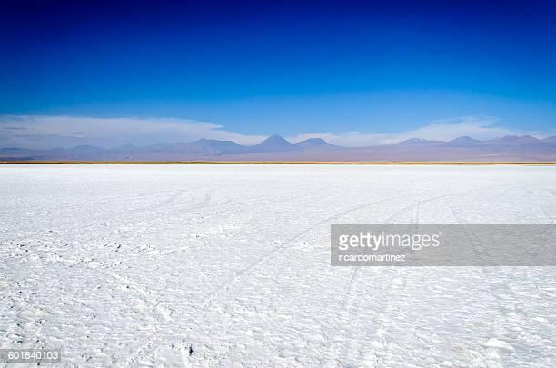 tebenquinche salt flats, atacama desert, chile - salt flat stock pictures, royalty-free photos & images