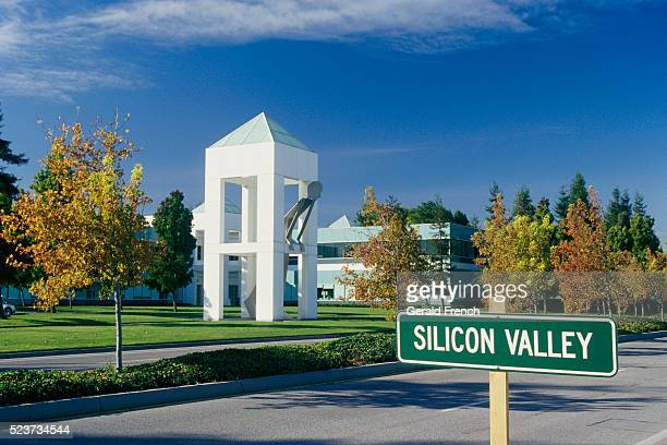 tech companies in silicon valley - birthplace of silicon valley stockfoto's en -beelden