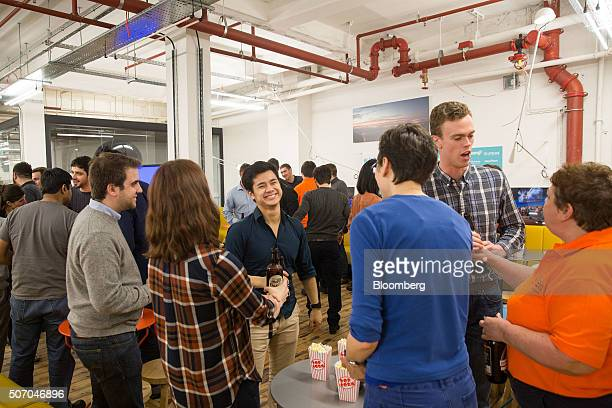 Tech entrepreneurs network at the Rise London accelerator setup by Barclays Plc in 2003 and run in partnership with Techstars in London UK on Monday...