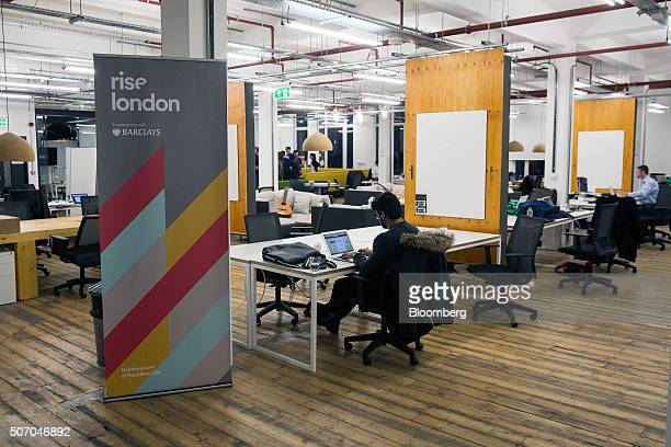 Tech entrepreneurs work at the Rise London accelerator setup by Barclays Plc in 2003 and run in partnership with Techstars in London UK on Monday Jan...