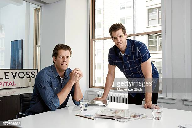 Tech gurus Cameron Winklevoss and Tyler Winklevoss are photographed for The Times are photographed on June 7, 2016 in New York City. PUBLISHED IMAGE.