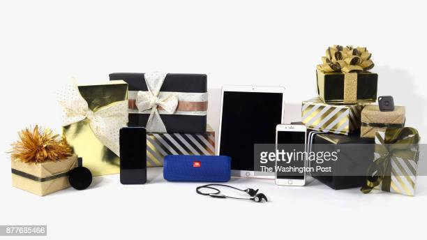 Tech items for the Post's annual gift guide on October 2017 in Washington DC