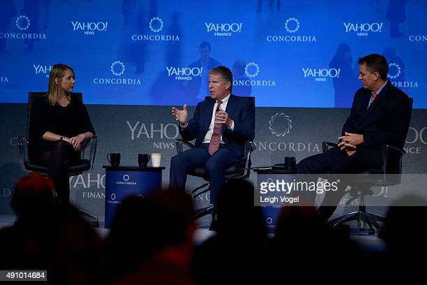 Tech reporter at Yahoo News Alyssa Bereznak New York County District Attorney Cyrus Vance Jr and Deputy Commissioner Operations at NYPD Dermot Shea...