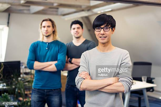 tech start-up founders posing for a group shot