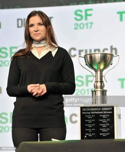 TechCrunch Director of Special Projects and Battlefield Editor Samantha Stein presents the Startup Battlefield finalists during TechCrunch Disrupt SF...