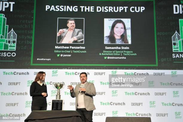 TechCrunch Director of Special Projects and Battlefield Editor Samantha Stein and TechCrunch EditorinChief Matthew Panzarino present the Startup...