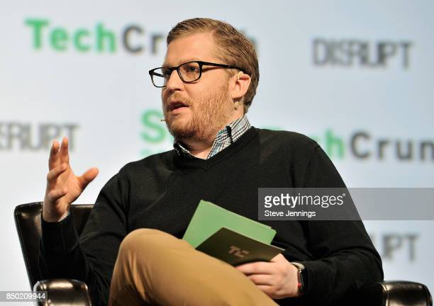 TechCrunch moderator Brian Heater speaks onstage during TechCrunch Disrupt SF 2017 at Pier 48 on September 20 2017 in San Francisco California