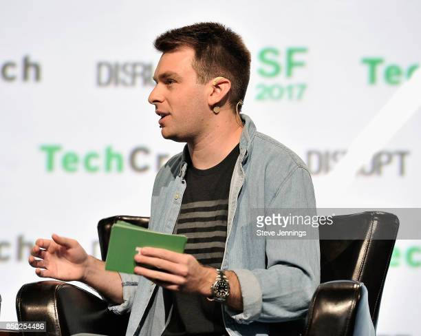 TechCrunch moderator Fitz Tepper speaks onstage during TechCrunch Disrupt SF 2017 at Pier 48 on September 20 2017 in San Francisco California