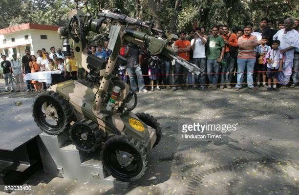 Techfest 2009 Tech Festival Daksh the remote controlled robot can be used to handle scan and diffuse bombs and explosives Approved by the Indian Army...