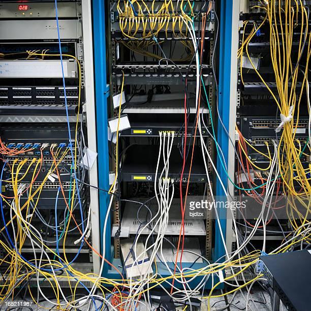 Technical computer room that needs maintenance