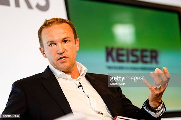 Technical Director of Elite Coaching England and Wales Cricket Board Andy Flower speaks during the Leaders Sport Performance Summit at the Emirates...