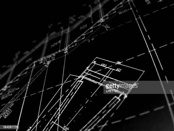 technische pläne 2 - technische zeichnung stock-fotos und bilder