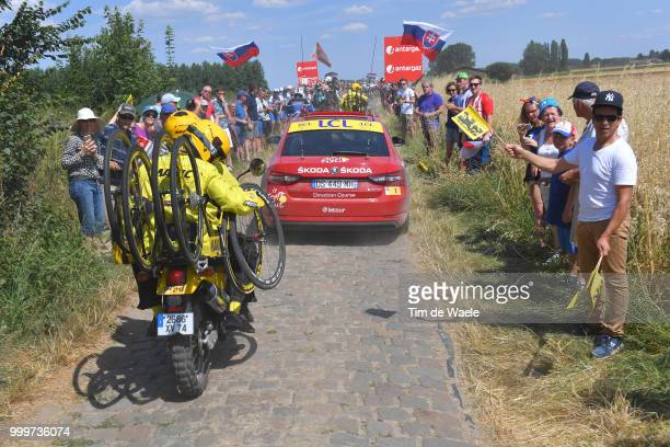 Technical Support motorbike Mavic / during the 105th Tour de France 2018 Stage 9 a 1565 stage from Arras Citadelle to Roubaix on July 15 2018 in...