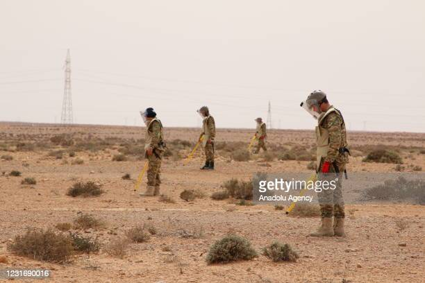 Technical team of 5+5 Joint Military Commission in Libya annihilate 3 tons of war remnant ammunition consisting of mines, missiles and ammunition at...