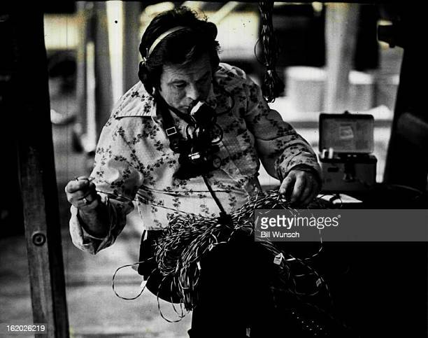 MAR 9 1981 FEB 19 1982 MAR 21 1982 A technician checks wiring for external fuel tank's electrical system All flight data are recorded in the orbiter...
