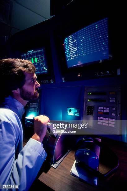 Technician in a control room
